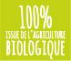 100% issue de l'Agriculture Biologique